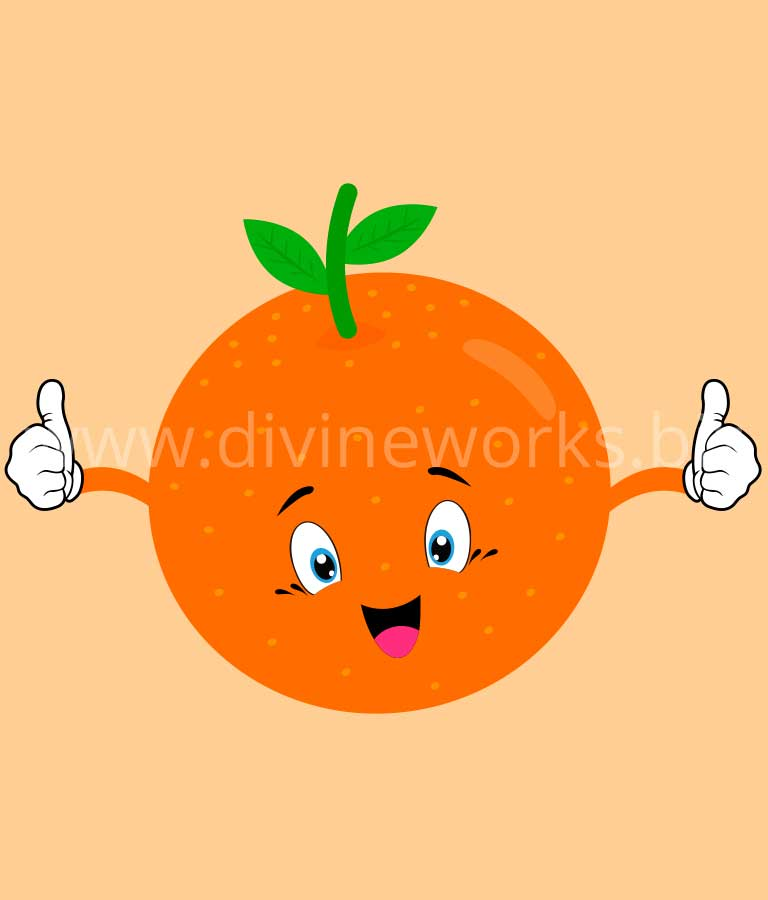 Download Free Orange Fruit Cartoon Vector by Divine Works