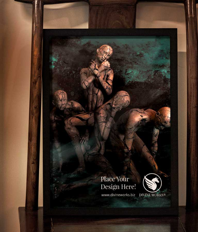 Download Free Poster Frame PSD Mockup by Divine Works
