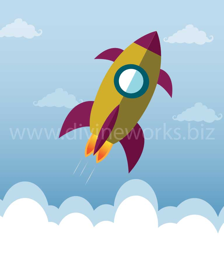 Download Free Rocket Launch Vector by Divine Works