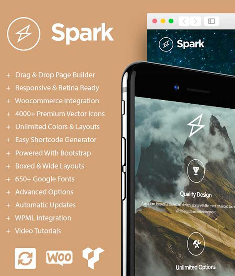 Spark Drag & Drop WordPress Theme