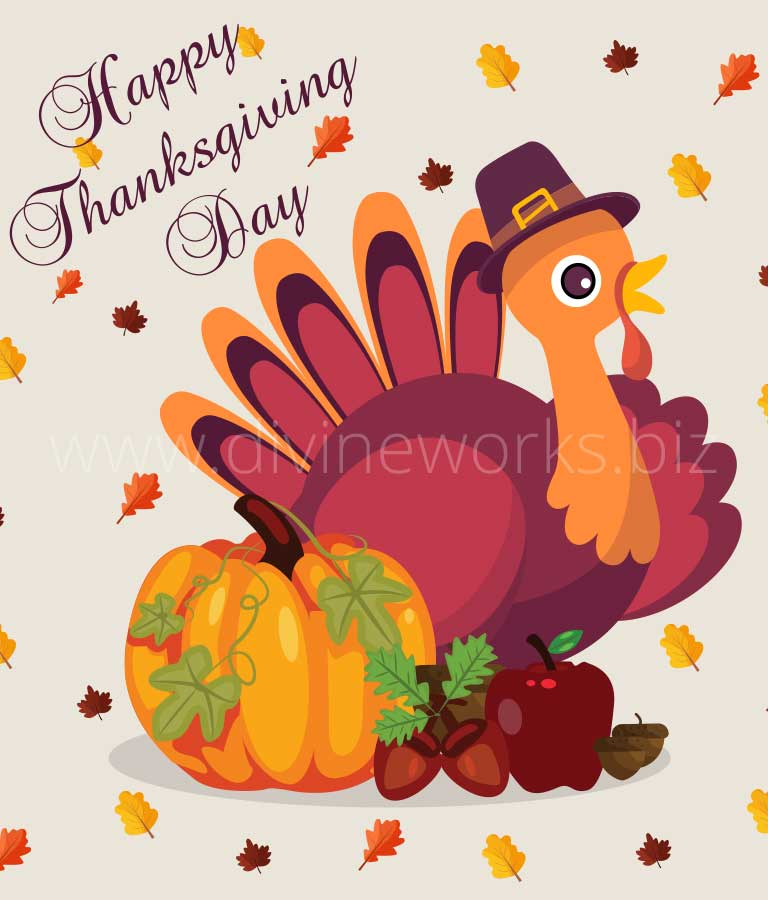 Download Free Thanksgiving Turkey Vector Illustration by Divine Works