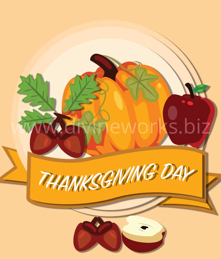 Download Free Thanksgiving Day Art Illustration by Divine Works
