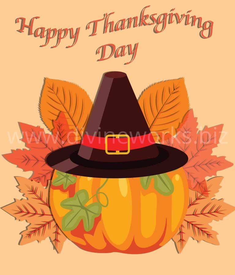 Download Free Thanksgiving Pumpkin Illustration by Divine Works