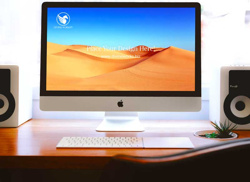 Download Free iMac Screen PSD Mockup by Divine Works