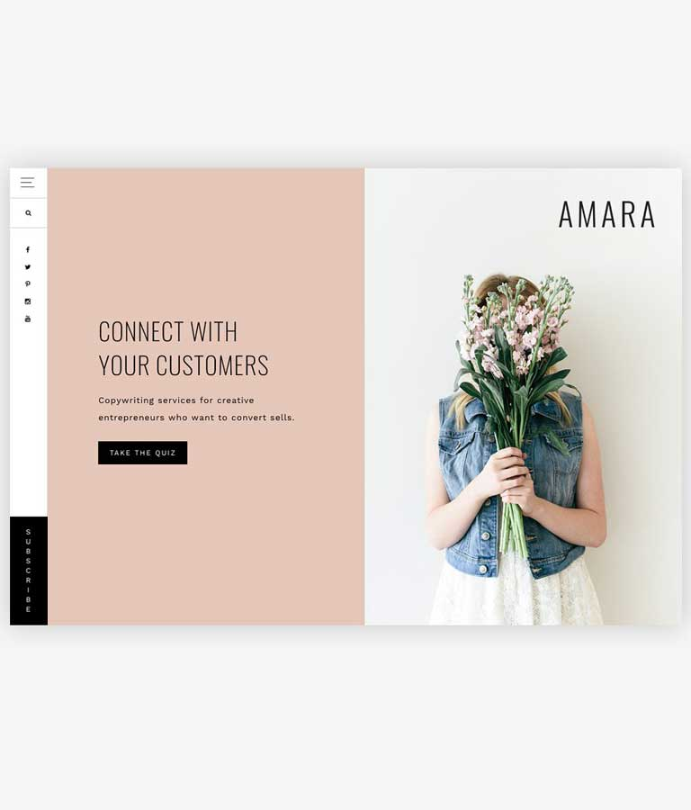 Amara A Theme for Entrepreneurs