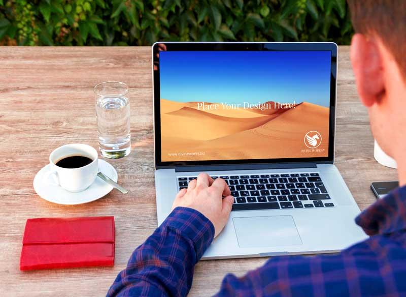 Download Free Apple Macbook Pro PSD Mockup by Divine Works