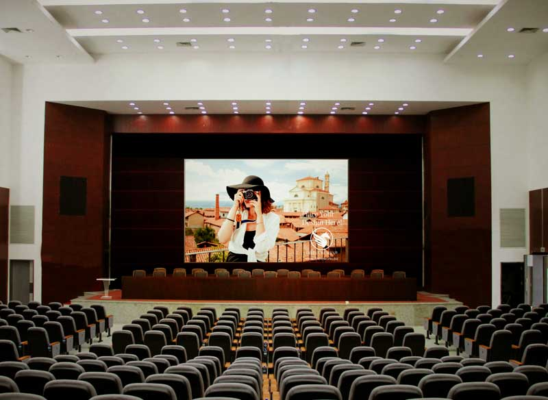 Download Free Conference Hall Screen Mockup by Divine Works