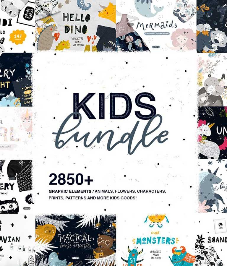 Kids Bundle / Graphic & Patterns