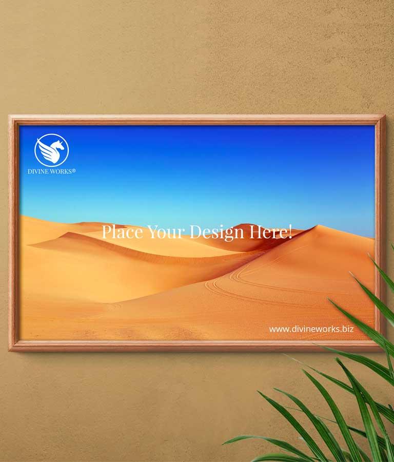 Download Free Landscape Frame Mockup by Divine Works