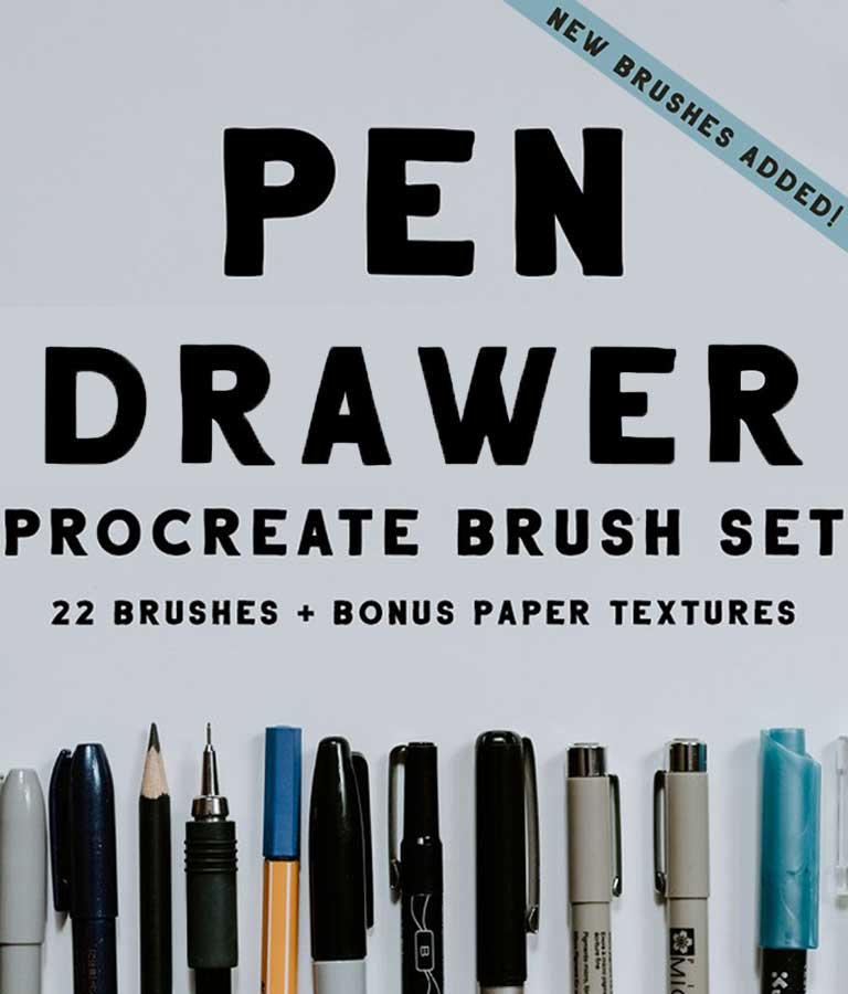 Pen Drawer Procreate Brush Set