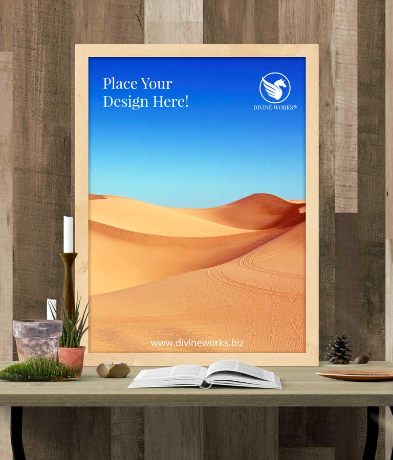 Download Free Picture Frame On Table Mockup by Divine Works