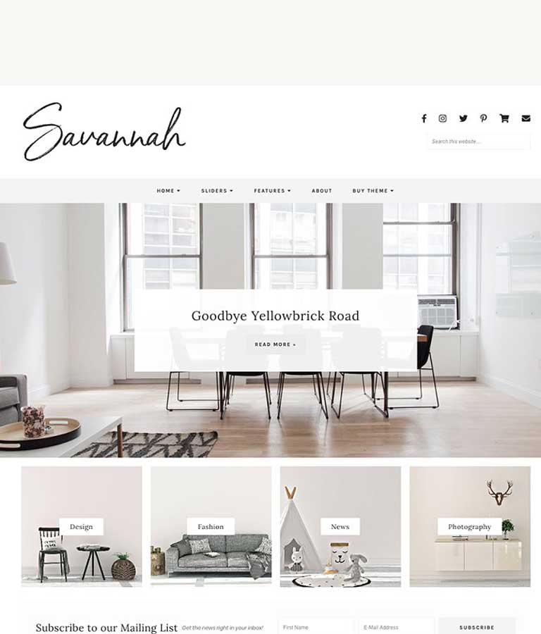 Responsive WordPress Theme, Savannah