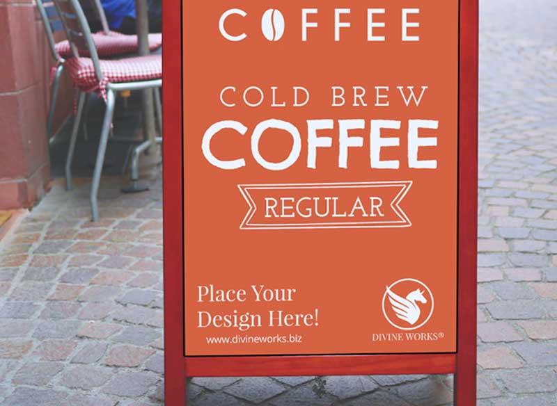Download Free Restaurant Menu Board Mockup by Divine Works