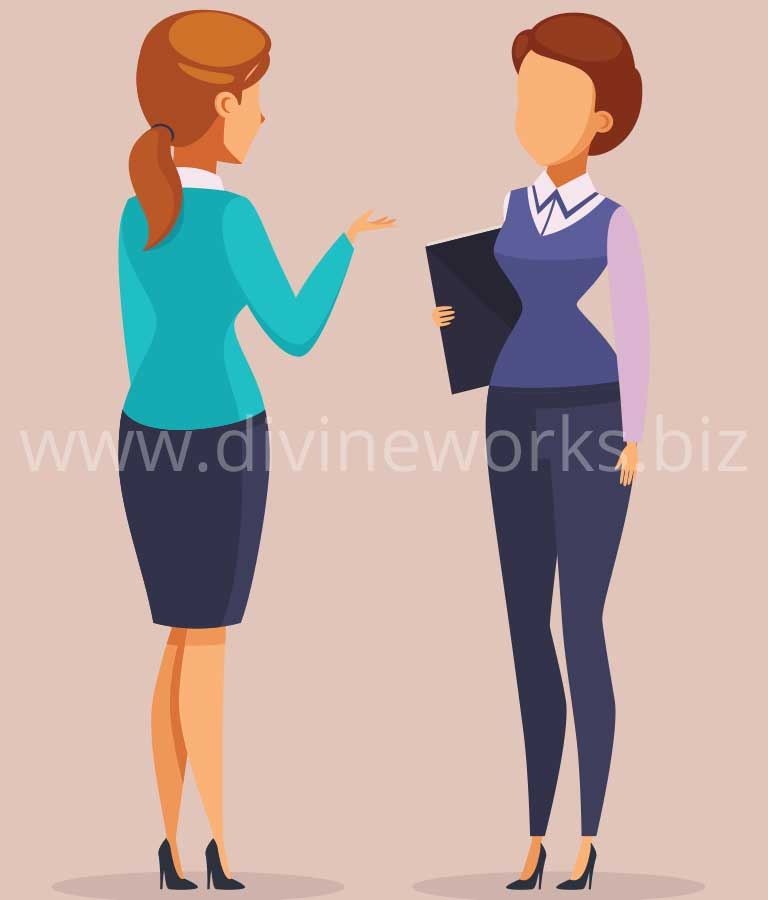 Download Free Business Woman Vector Illustration by Divine Works