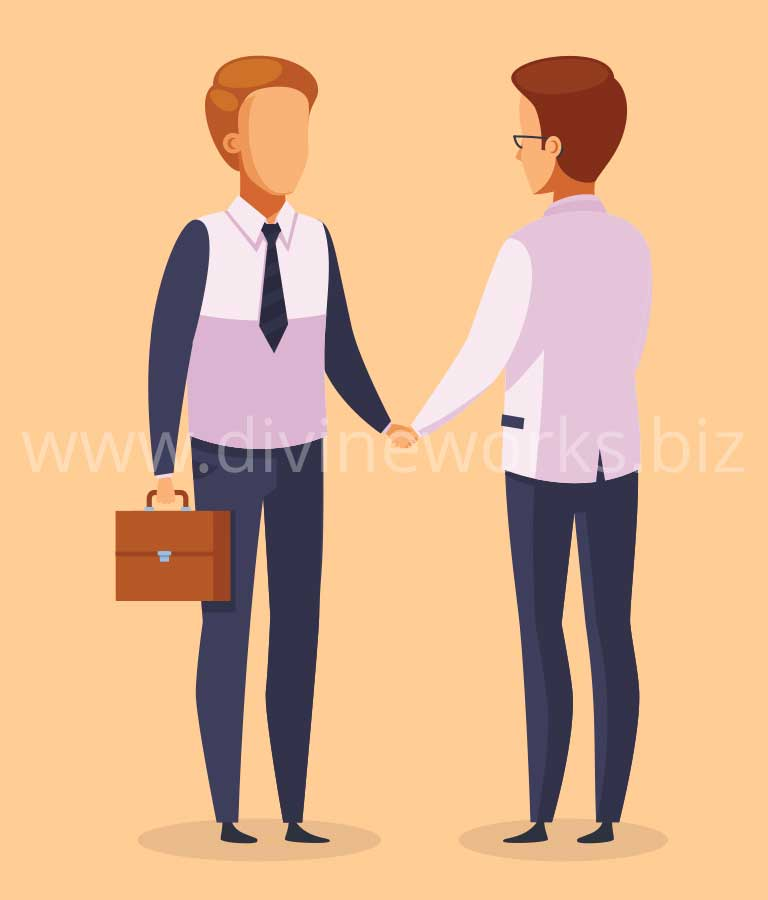 Download Free Businessman Partnership Vector by Divine Works