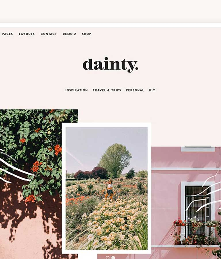 Dainty Blog & Shop WordPress Theme