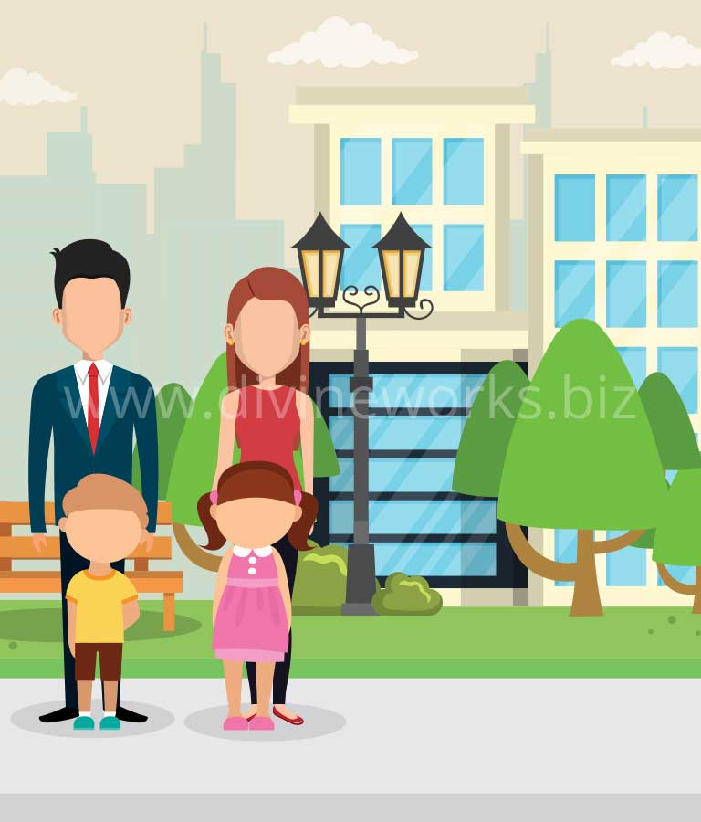 Download Free Family Vector Illustration by Divine Works
