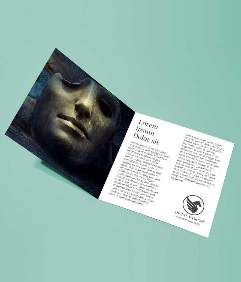 Download Free Square Brochure Mockup by Divine Works
