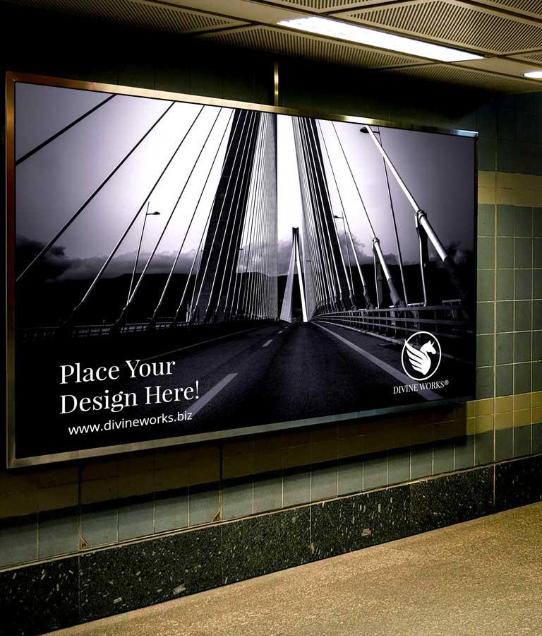 Download Free Underground Ad Screen Mockup by Divine Works