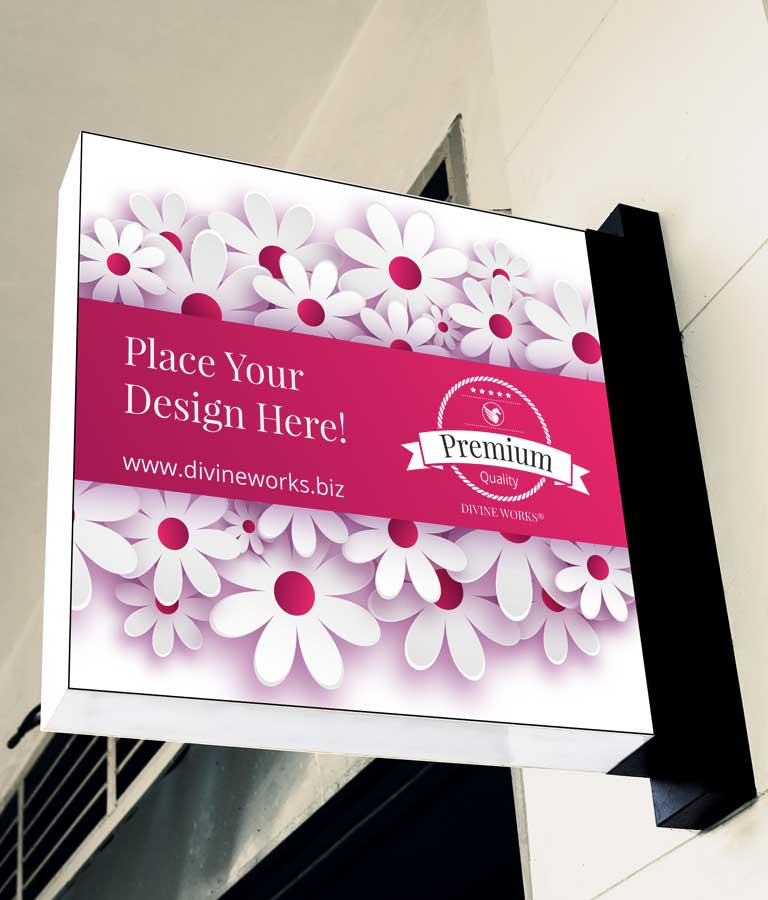 Download Free Wall Hanging Sign Board Mockup by Divine Works