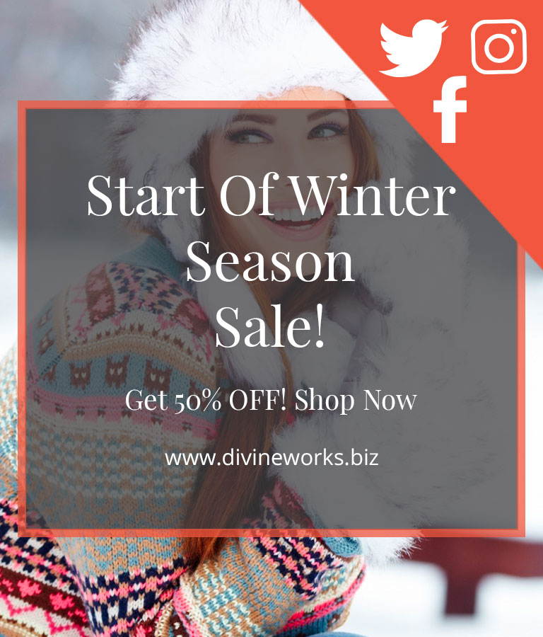 Download Free Winter Sale Social Media Template by Divine Works