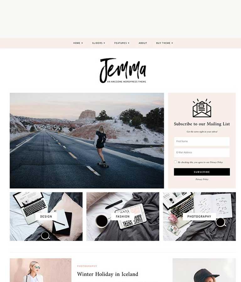 WordPress Theme, Feminine, Jemma