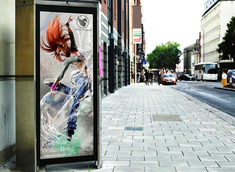 Download Free Billboard Street Mockup by Divine Works