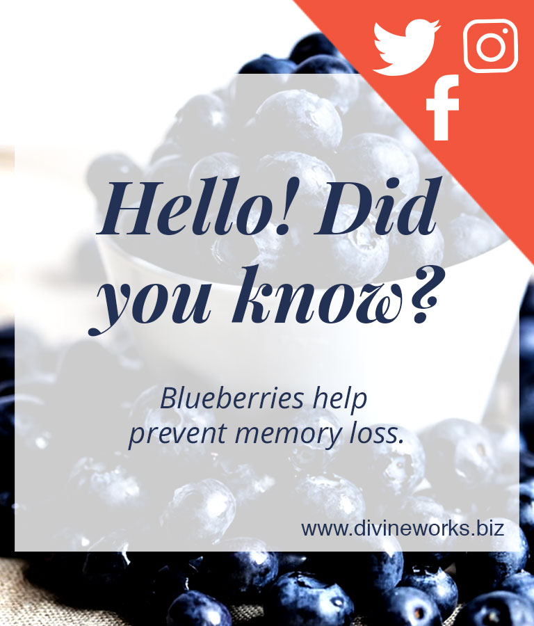 Download Free Blueberry Social Media Template by Divine Works