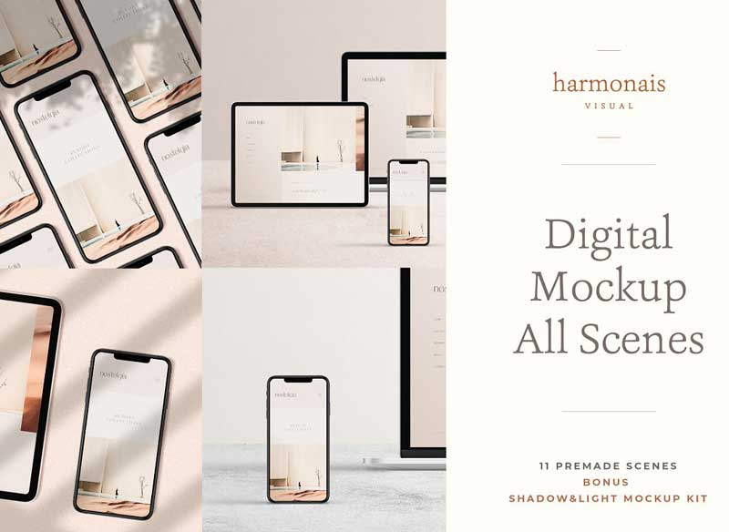 Digital Device Mockup