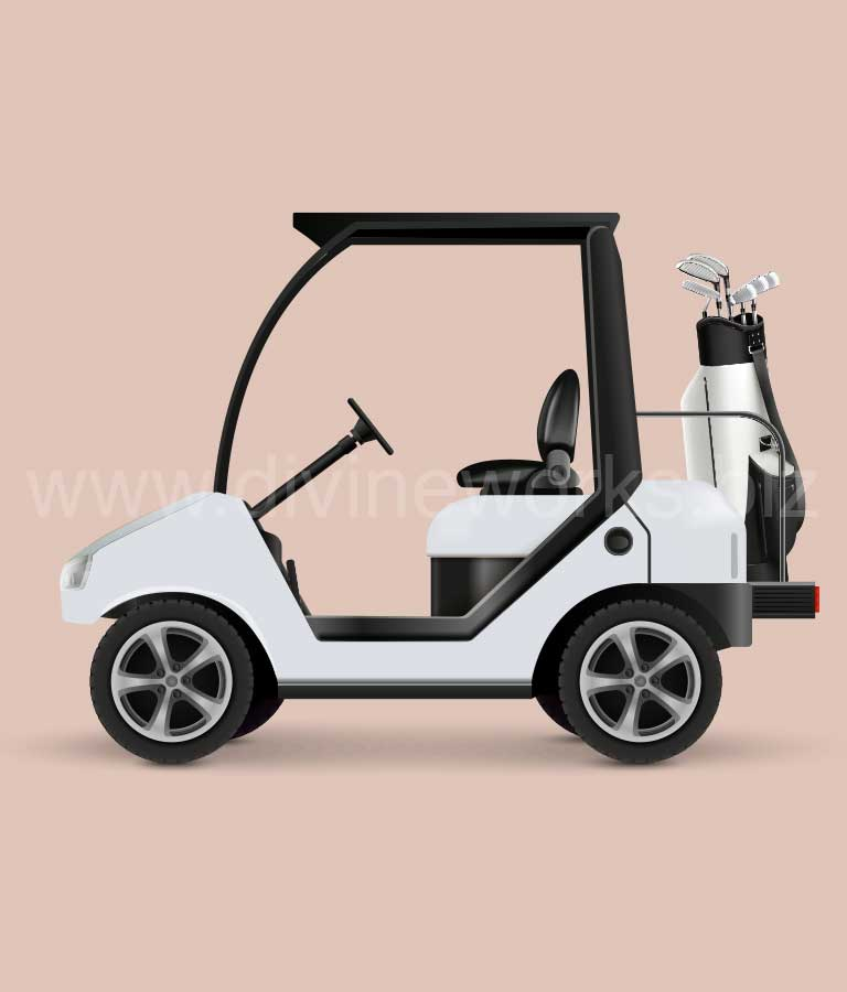 Download Free Golf Car Vector Illustration by Divine Works