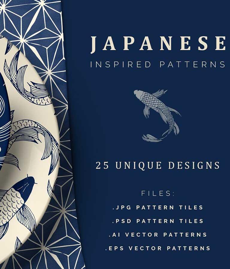 Hand Drawn Japanese Patterns