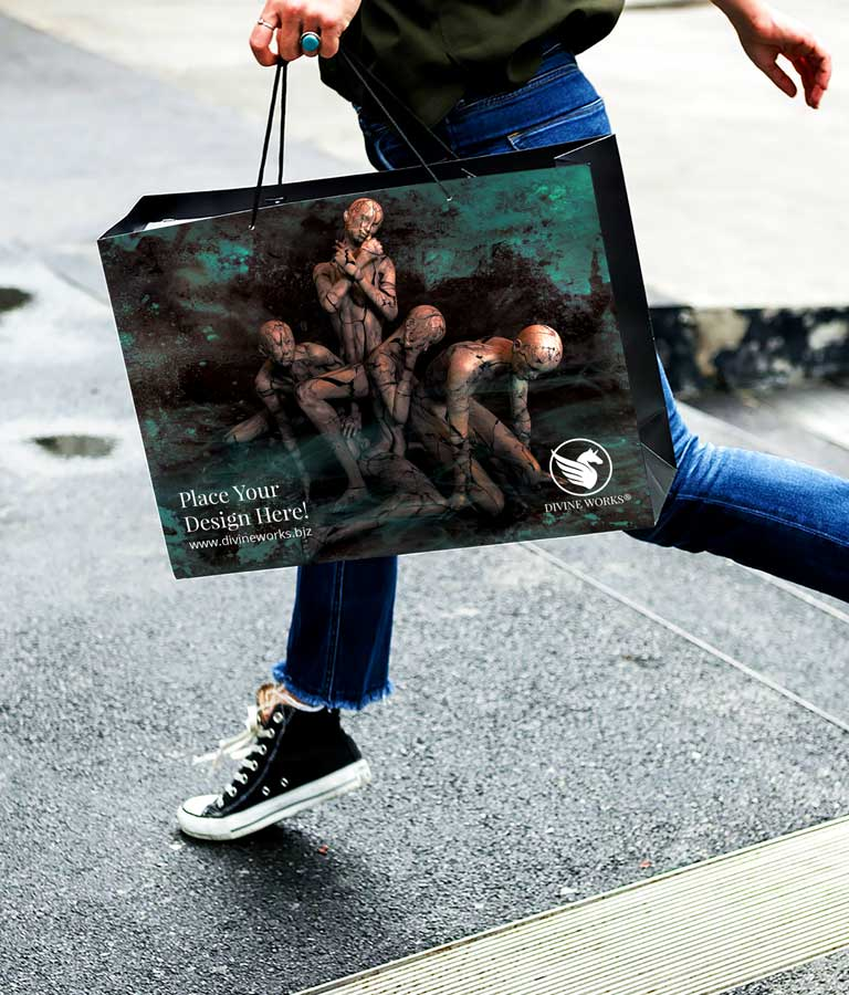 Hand Holding Shopping Bag Mockup