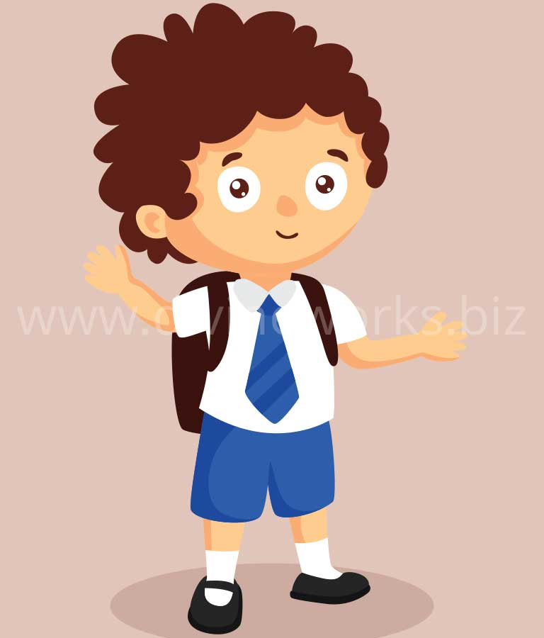 Download Free Kid Student Character Vector by Divine Works