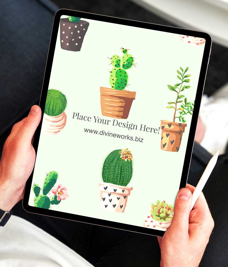 Download Free Man Holding iPad Pro Mockup by Divine Works
