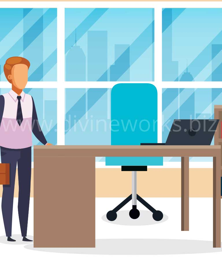 Download Office Room Free Vector by Divine Works