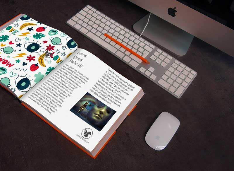 Download Free Open Book Mockup by Divine Works
