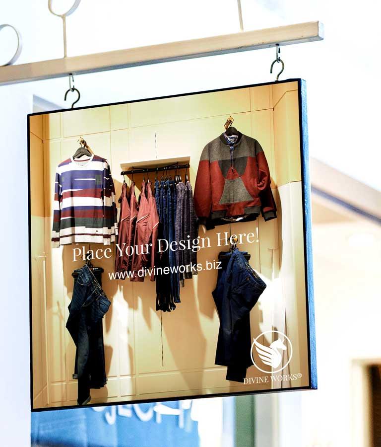 Shop Hanging Signage Mockup