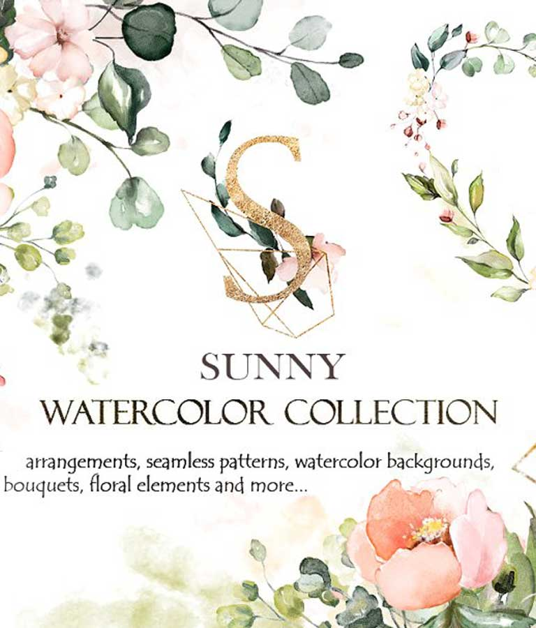 Sunny Watercolor Floral Collection