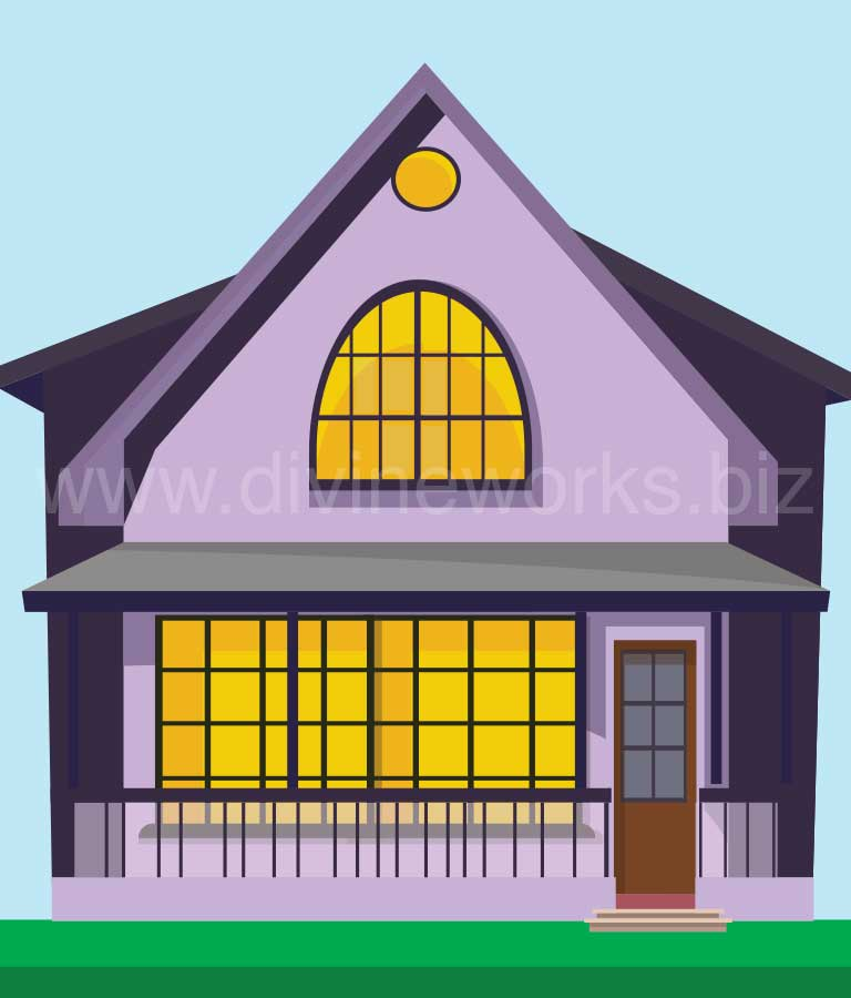 Download Free Vector House Illustration by Divine Workd