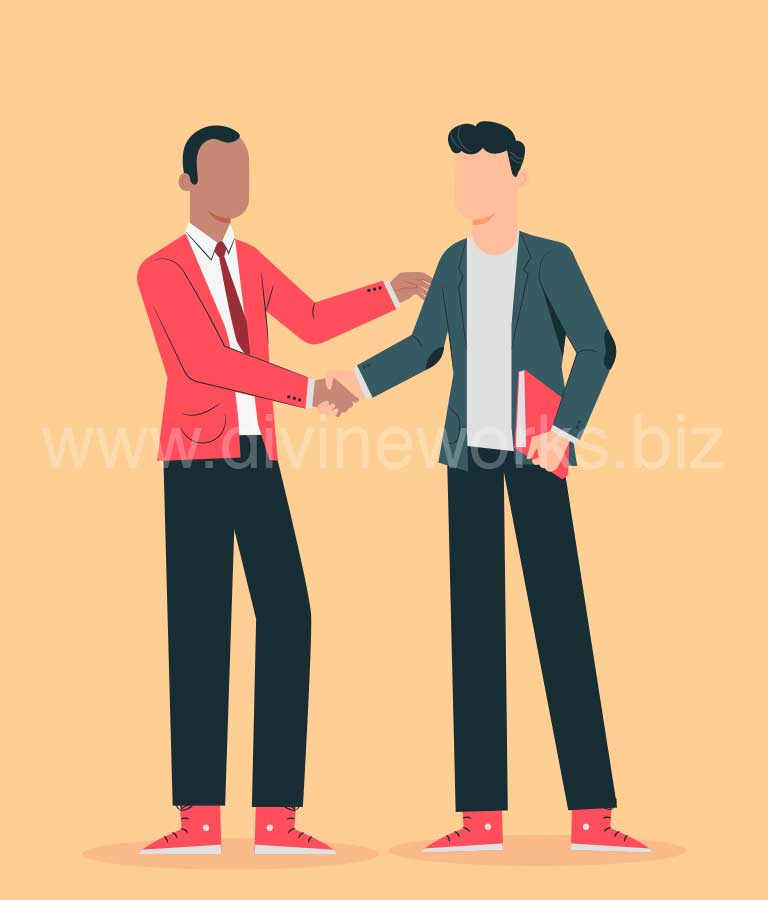 Download Free Business Deal Concept Vector Art by Divine Works