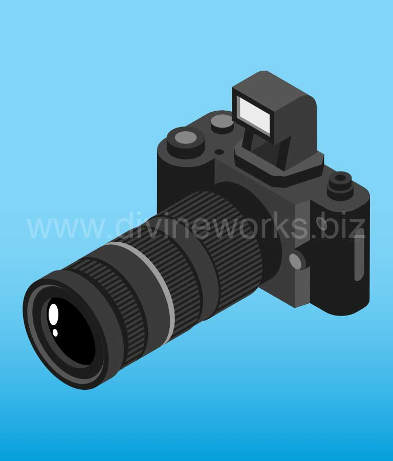 Download Free Photography Camera Vector Art by Divine Works
