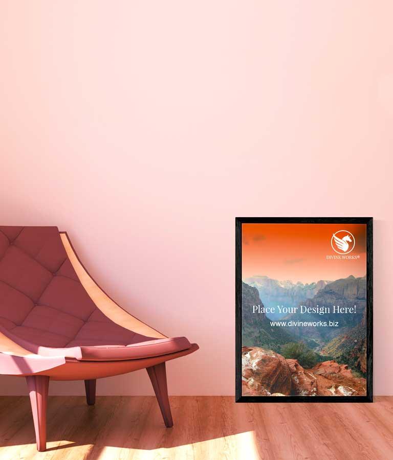Download Free Room Interior Poster Mockup by Divine Works