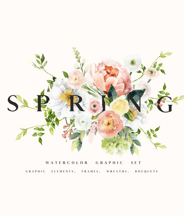 SPRING Collection Watercolor Set
