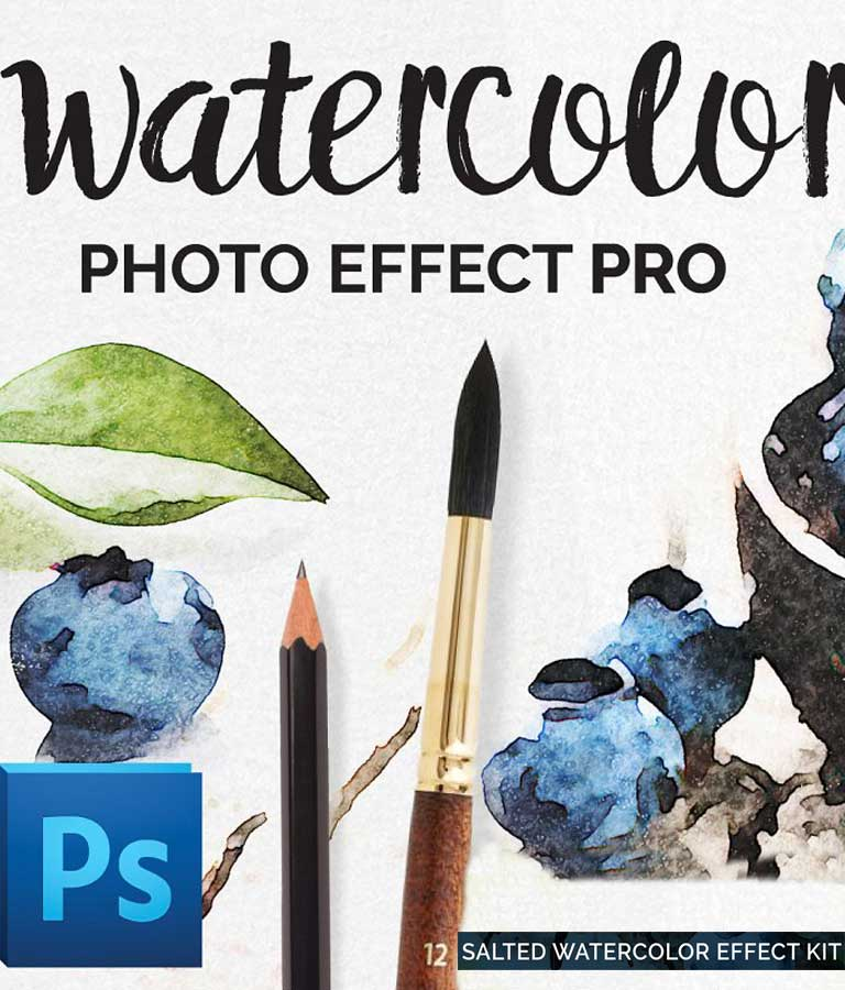 Watercolor Photo Effect Salted