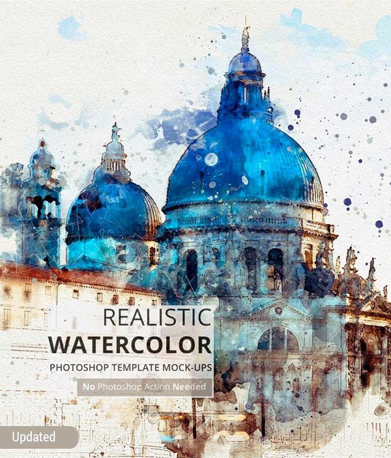 Watercolor Photoshop Mock-ups