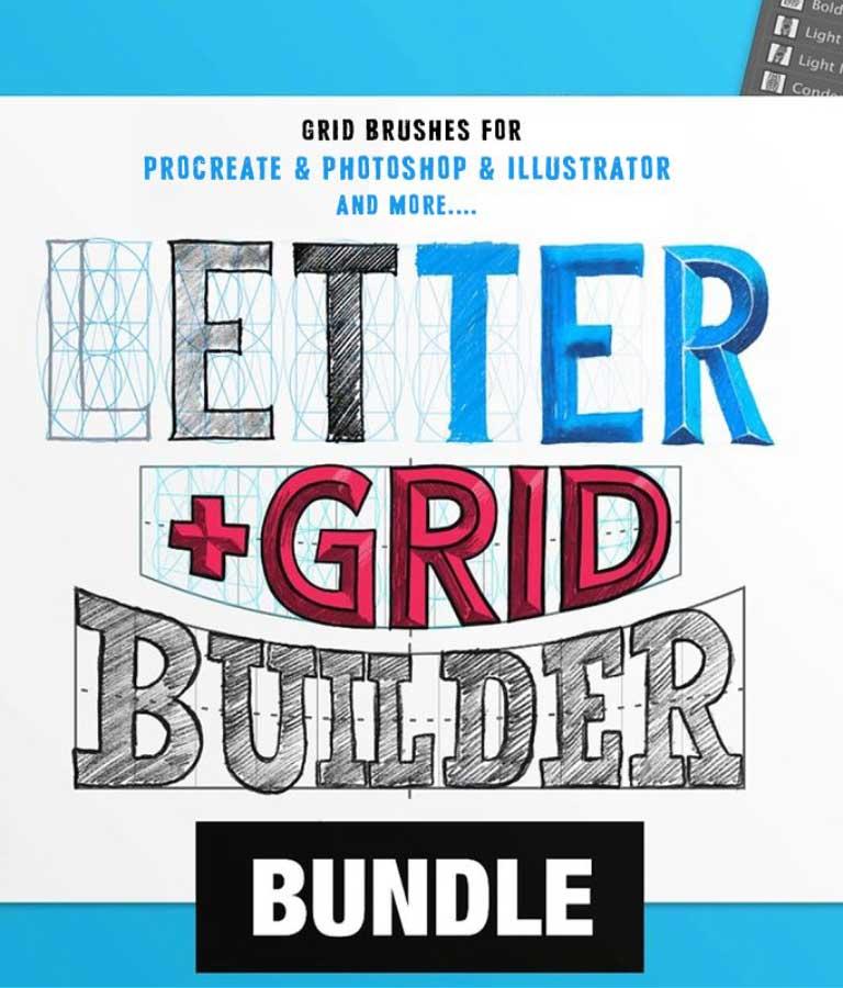 Letter Grid Builder Bundle For Amazing Typography