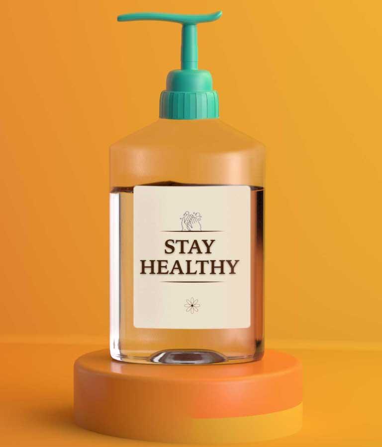 Hand Sanitiser Bottle Mockup