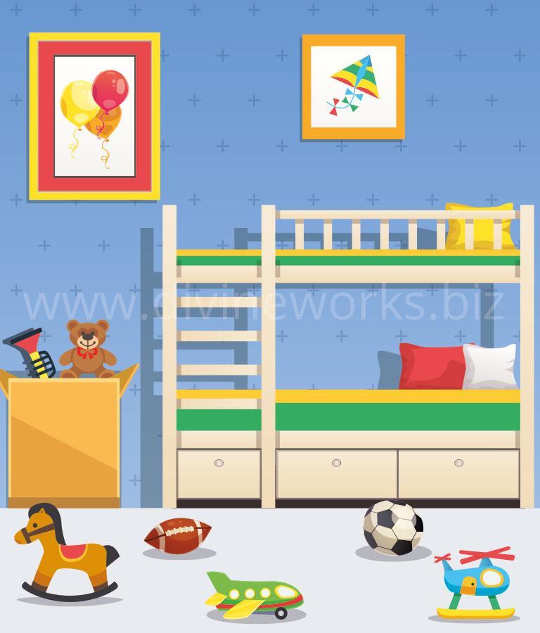 Download Free Baby Room Vector Illustration by Divine Works
