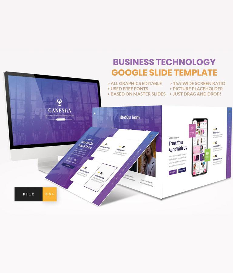 Business Technology Google Slide