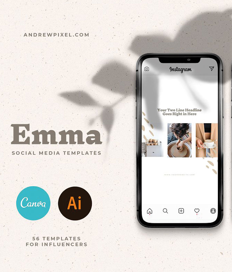 Emma - Social Media Templates